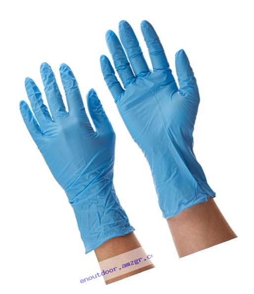 Dynarex 2511 SafeTouch Nitrile Exam Gloves, Non Latex, Powder Free, Small, Blue(Pack of 100)
