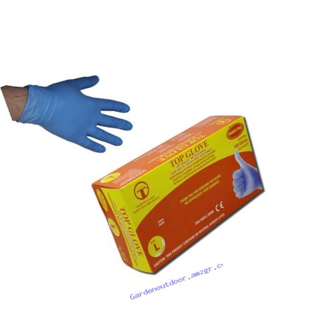 GREAT GLOVE NM50005-S-BX Nitrile Powder-Free Glove, Industrial Grade, 4.5 mil - 5 mil, Latex-Free, Textured, Nitrile Synthetic Rubber, General Purpose, Food Safe (FDA 21 CFR 170-199), Small, Blue (Pack of 100)