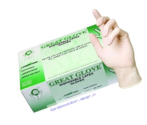 GREAT GLOVE 20000-XS-INNER Latex Industrial Grade Glove, X-Small, Natural